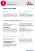 PDF-Cover Safety regulations